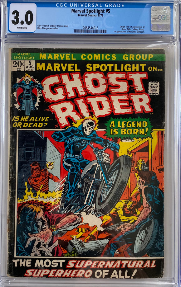 Marvel Spotlight #5 CGC 3.0 White Pages