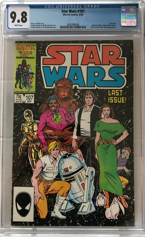 Star Wars #107 CGC 9.8 White Pages