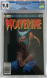 Wolverine Limited Series #3 CGC 9.8 White Pages ~CANADIAN VARIANT~