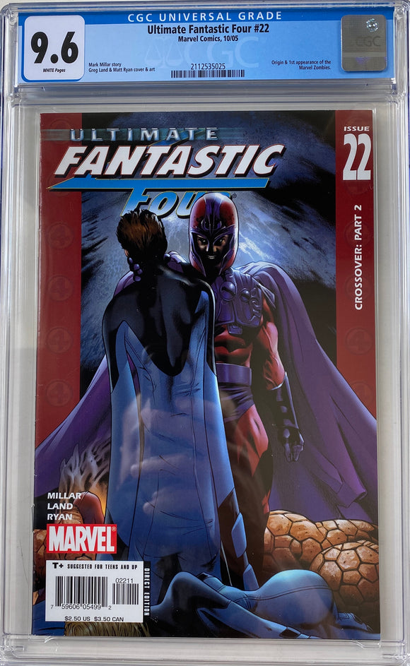 Ultimate Fantastic Four #22 CGC 9.6 White Pages