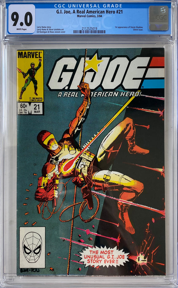 G.I. Joe, A Real American Hero #21 CGC 9.0 White Pages