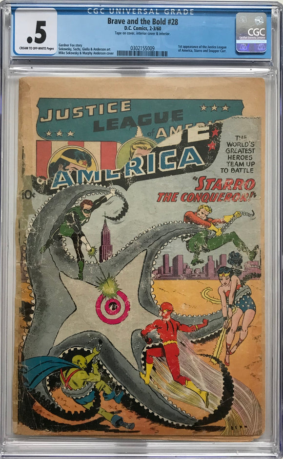Brave and the Bold #28 CGC .5 Cream to Off-White Pages