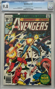Avengers #162 CGC 9.8 Off-White to White Pages