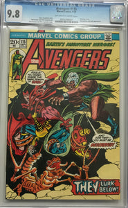 Avengers #115 CGC 9.8 Off-White to White Pages