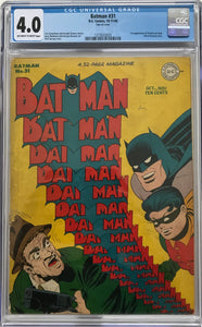 Batman #31 CGC 4.0 Off-White to White Pages