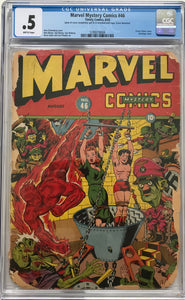 Marvel Mystery Comics #46 CGC .5 Brittle Pages