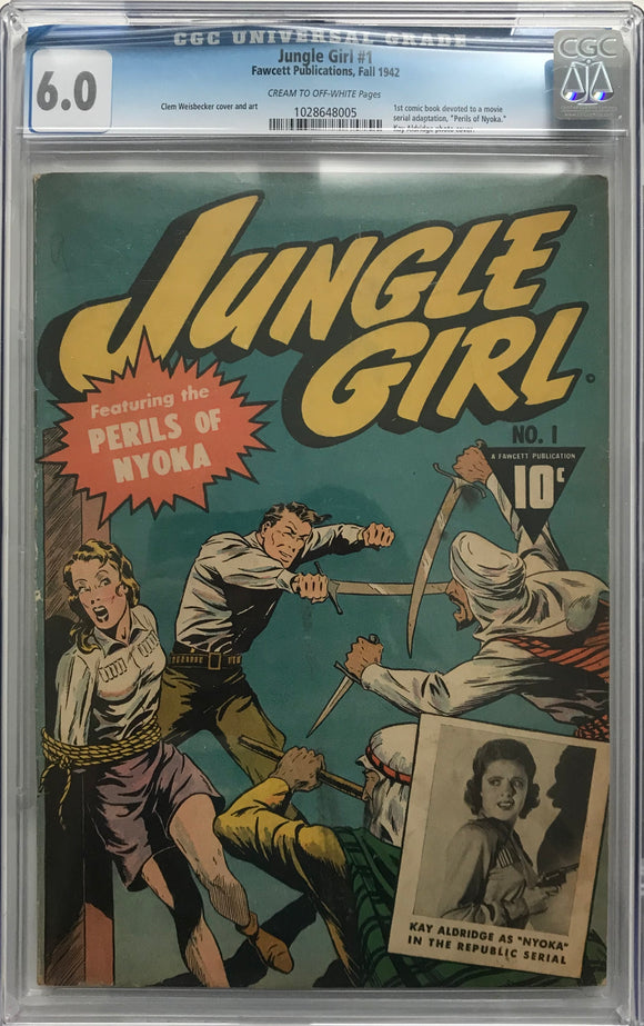 Jungle Girl #1 CGC 6.0 Cream to Off-White Pages