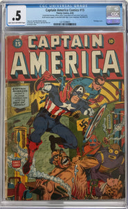 Captain America #15 CGC .5 Light Tan to Off-White Pages