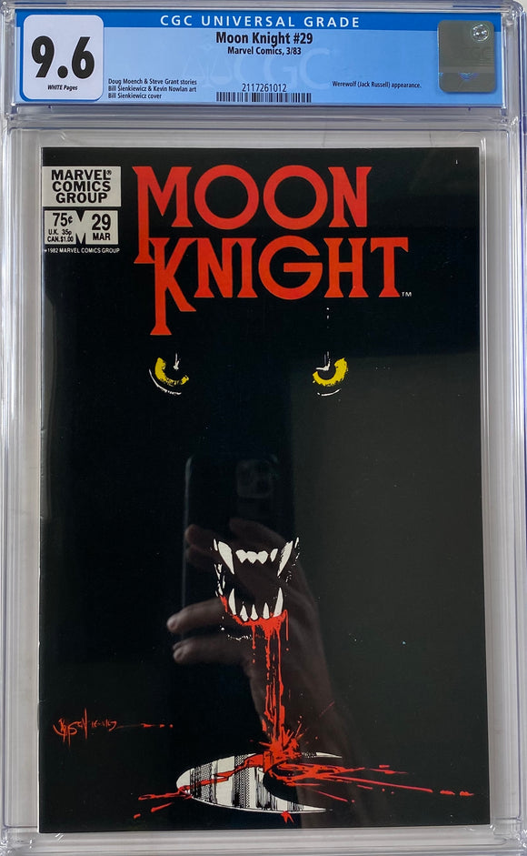 Moon Knight #1 CGC 9.6 White Pages