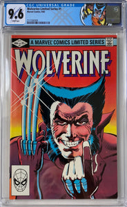 Wolverine Limited Series #1 CGC 9.6 White Pages