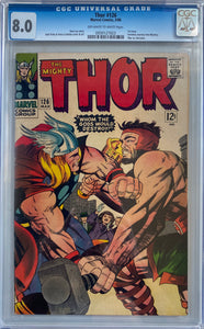 Thor #126 CGC 8.0 Off-White to White Pages