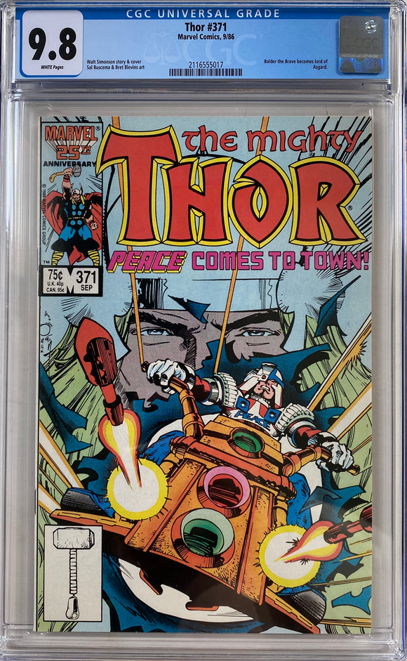 Thor #371 CGC 9.8 White pages