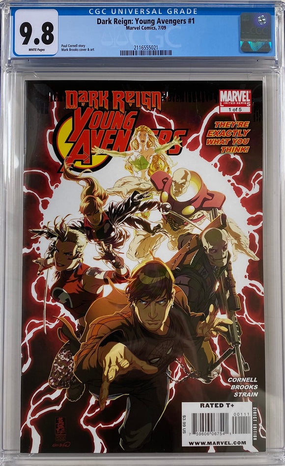 Dark Reign: Young Avengers #1 CGC 9.8 White Pages