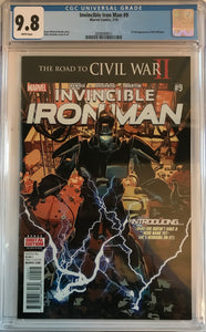 Invincible Iron Man #9 CGC 9.8 White Pages