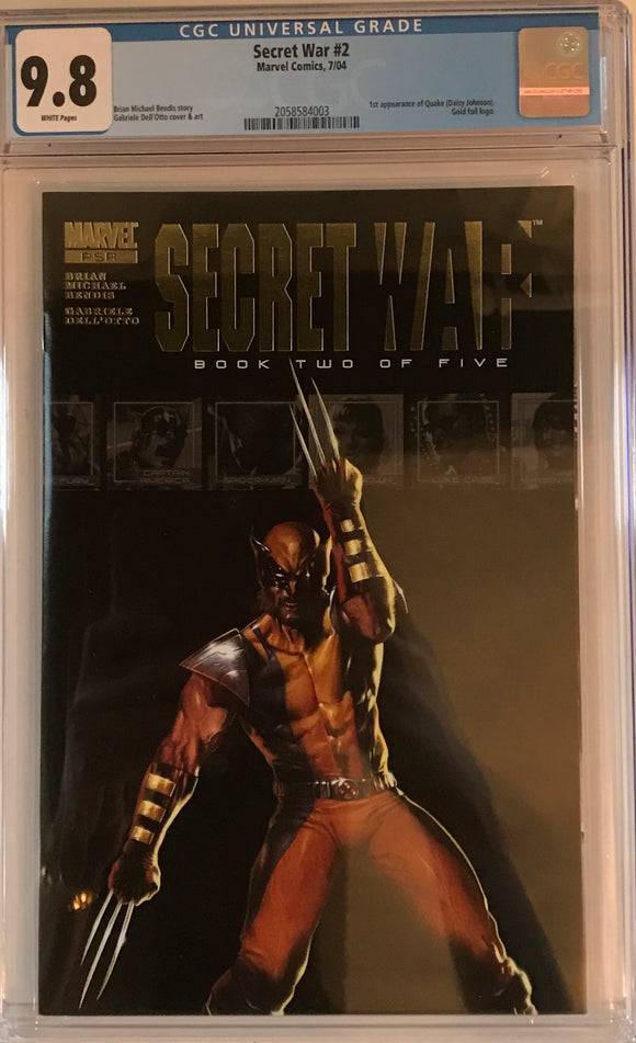 Secret War #2 CGC 9.8 White Pages