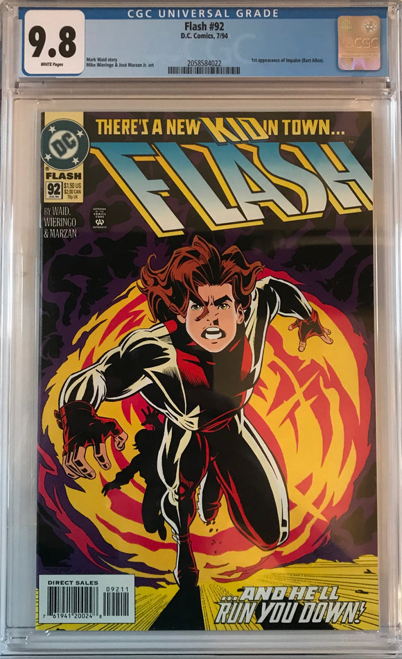 Flash #92 CGC 9.8 White Pages