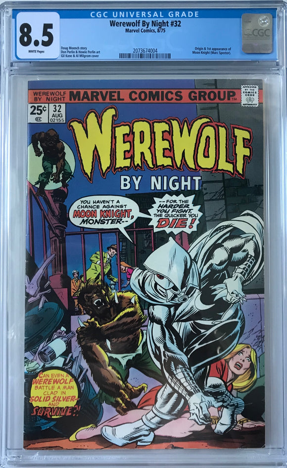 Werewolf By Night #32 CGC 8.5 White Pages
