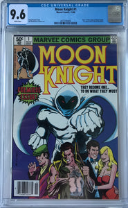 Moon Knight #1 CGC 9.6 White Pages ~NEWSSTAND VARIANT~