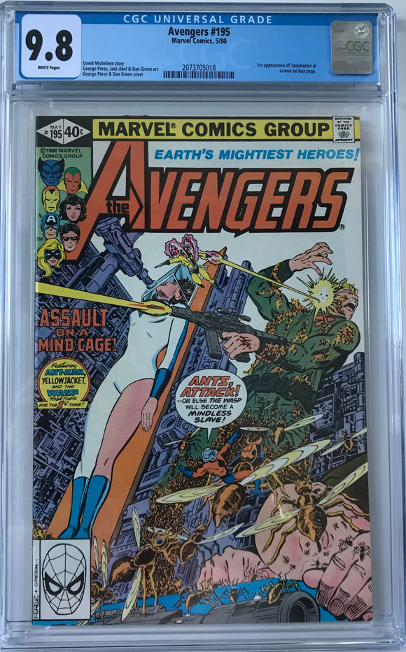 Avengers #195 CGC 9.8 White Pages