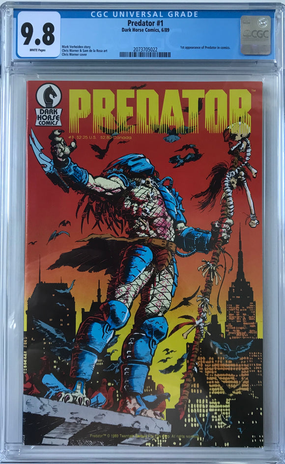 Predator #1 CGC 9.8 White Pages
