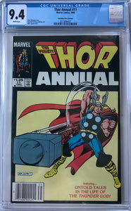 Thor Annual #11 CGC 9.4 White Pages ~CANADIAN VARIANT~
