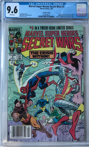 Marvel Super Heroes secret Wars #3 CGC 9.6 White Pages ~CANADIAN VARIANT~