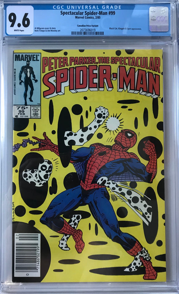 Spectacular Spider-Man #99 CGC 9.6 White Pages ~CANADIAN VARIANT~