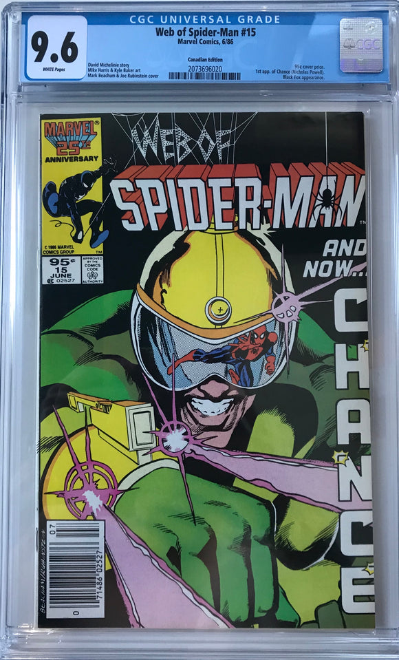 Web of Spider-Man #15 CGC 9.6 White Pages ~CANADIAN VARIANT~