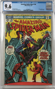 Amazing Spider-Man #136 CGC 9.6 White Pages
