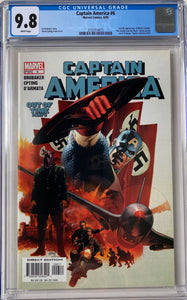 Captain America #6 CGC 9.8 White Pages