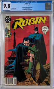 Robin #1 CGC 9.8 White Pages ~Newsstand Edition/Second Printing~