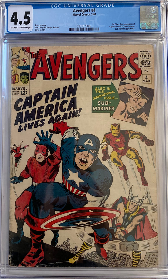 Avengers #4 CGC 4.5 Off-White to White Pages