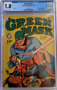 Green Mask #1 CGC 1.0 Off-White to White Pages