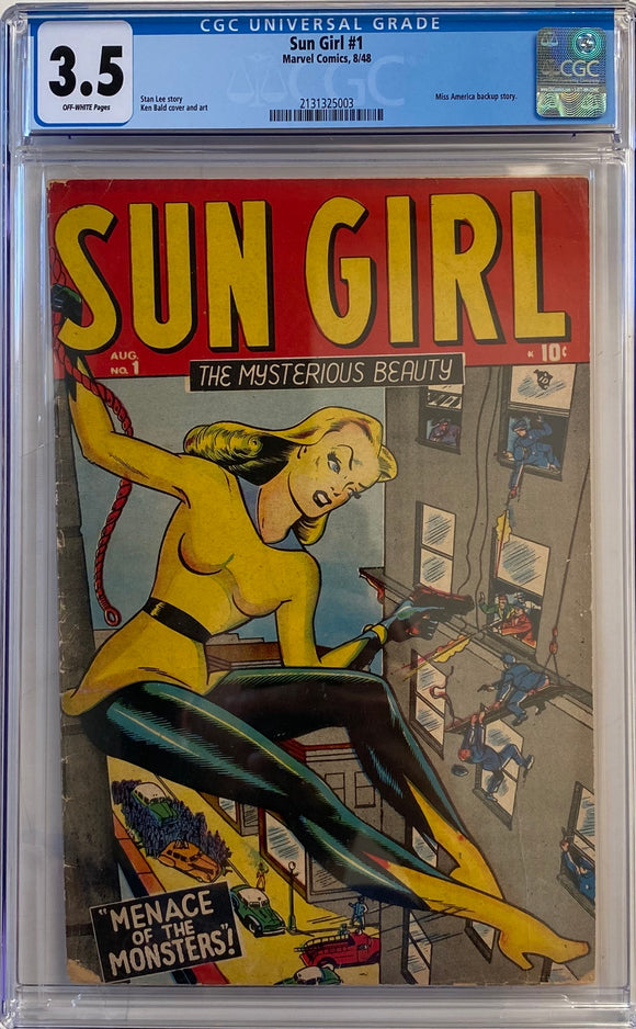 Sun Girl #1 CGC 3.5 Off-White Pages