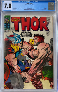 Thor #126 CGC 7.0 White Pages