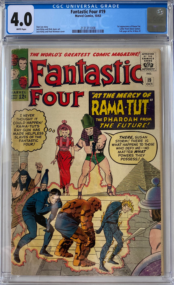 Fantastic Four #19 CGC 4.0 White Pages