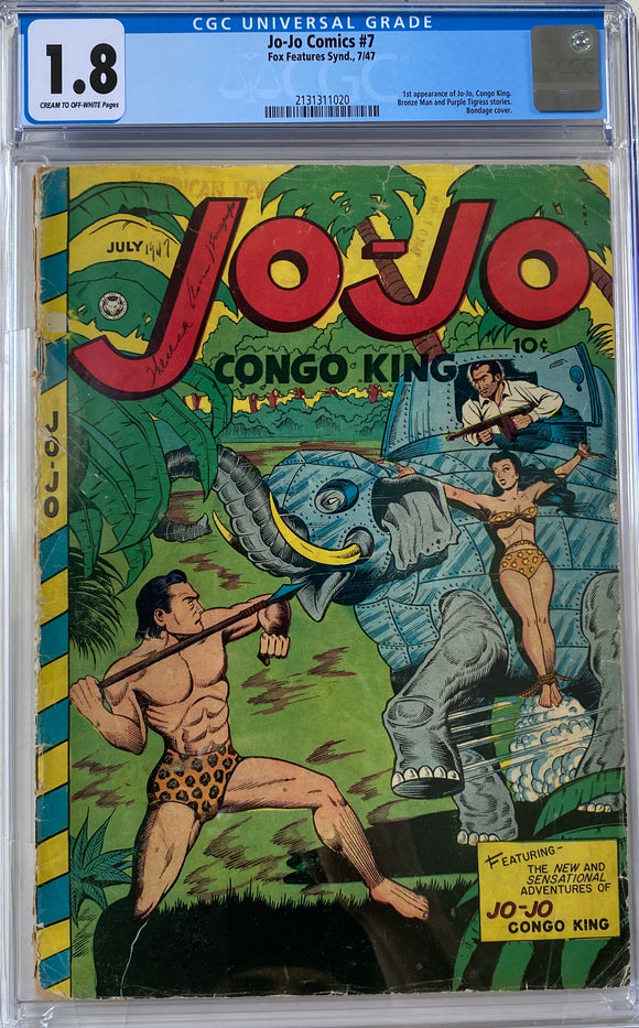Jo-Jo Comics #7 CGC 1.8 Cream to Off-White Pages
