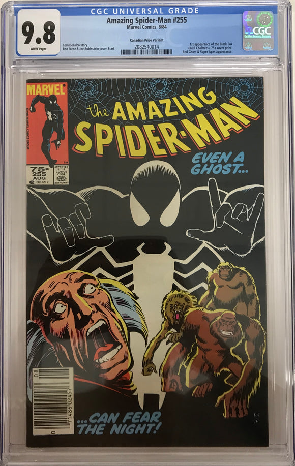 Amazing Spider-Man #255 CGC 9.8 ~Canadian Price Variant~