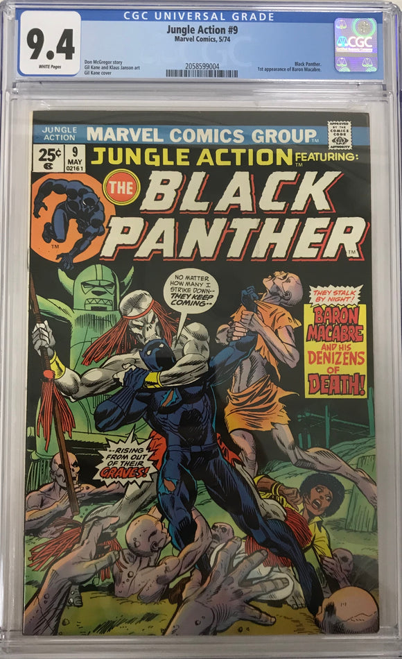 Jungle Action #9 CGC 9.4 White Pages