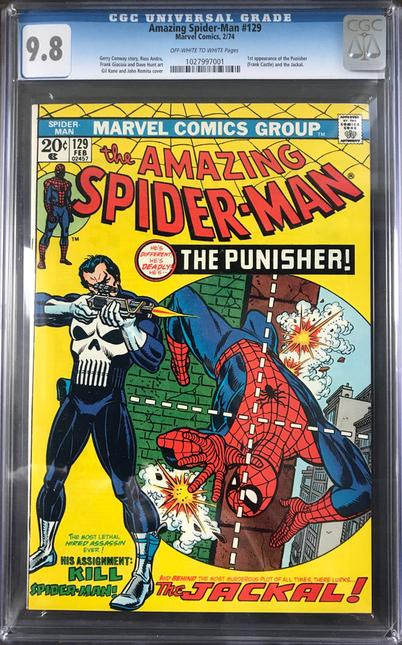 Amazing Spider-Man #129 CGC 9.8 Off-White to White Pages