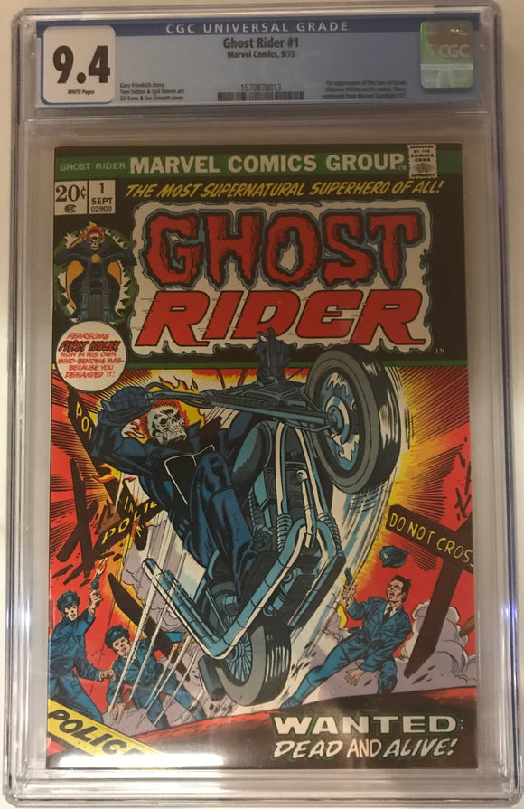 Ghost Rider #1 CGC 9.4 White Pages