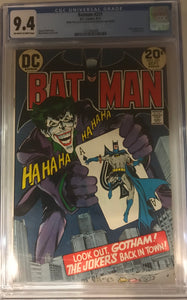 Batman #251 CGC 9.4 Off-White to White Pages