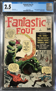 Fantastic Four #1 CGC 2.5 Light Tan to Off-White Pages