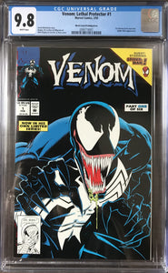 Venom: Lethal Protector #1 CGC 9.8 White Pages ~Black Cover Printing Error~