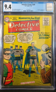 Detective Comics #225 CGC 9.4 Off-White to White Pages