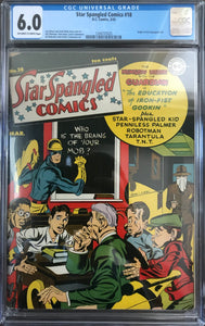 Star Spangled Comics #18 CGC 6.0 Off-White to White Pages