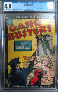 Gang Busters #1 CGC 4.0 Off-White to White Pages