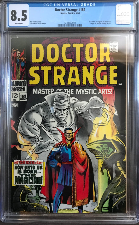 Doctor Strange #169 CGC 8.5 White Pages