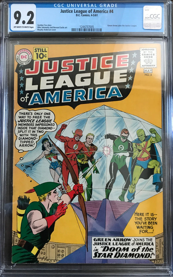 Justice League of America #4 CGC 9.2 Off-White to White Pages