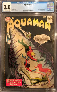 Aquaman #11 CGC 2.0 Off-White to White Pages